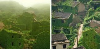 Opustená rybárska dedina v Číne, ktorú pohltila príroda