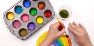 Domáce vodové farby pre deti | Návod ako vyrobiť deťom vodové farby