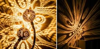 Prírodné ručne vyrábané lampy z kokosových orechov