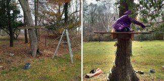 Stromová rozhľadňa pre deti | Kreatívny nápad a návod na treehouse