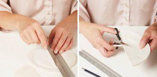 Tienidlo z papierových tanierov | Kreatívny nápad a návod a svietidlo