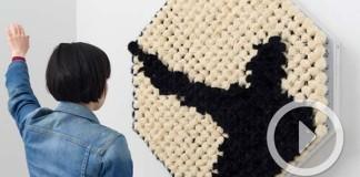 Interaktívne huňaté zrkadlo, ktoré odráža len siluety | Daniel Rozin
