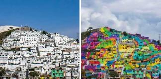 Mexická vláda požiadala street art umelcov, aby pomaľovali celú štvrť