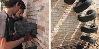 Street art diela vytvorené zo starých pneumatík   Pneumatic