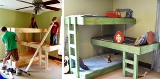 Trojposchodové postele pre deti | 10 kreatívnych nápadov