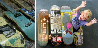 Ako využiť starý skateboard | 25 kreatívnych nápadov na skateboardy