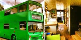 Premena double-deckera na malý mobilný hotel | Big Green Bus