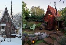 Malé drevené chatky, akoby z rozprávky vystrihnuté   Dan Pauly