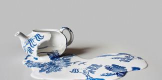 Livia Marin mení rozbitý porcelán tekutým efektom na umenie