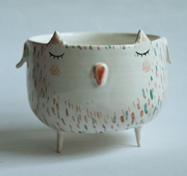 Marta Turowska roztomila zvieracia handmade keramika 10