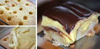 Bostonský krémový koláč | Pokušenie, ktorému málokto odolá