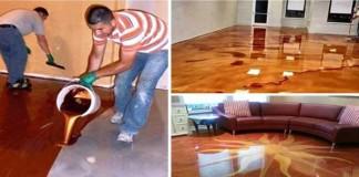 Epoxidová podlaha   Inšpirácie ako si doma vytvoriť luxusnú podlahu
