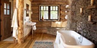 Rustikálne kúpeľne, ktoré sú skutočným relaxom pre telo i dušu