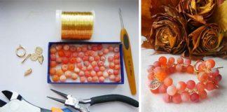 """Detailný návod na handmade korálkový náramok """"jasné farby jesene"""""""
