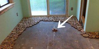 Podlaha z drevených odrezkov | Kreatívny nápad a návod čo s odrezkami
