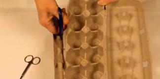 Snehuliak z kartónového obalu na vajíčka | DIY návod