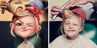 Julio Cesar mení fotografie ničnetušiacich ľudí na hravé ilustrácie