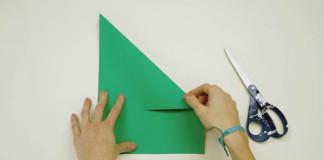Dekoračný vianočný 3D stromček z papiera | Návod na dekoráciu