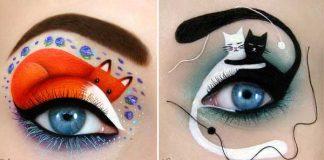 Kreatívny a hravý makeup Tal Peleg mení očné viečka na umelecké plátno