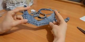Návod ako vytvoriť handmade náhrdelník zo starých džínsov