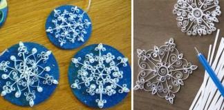 Qullingové snehové vločky | Nápady na vianočné ozdoby