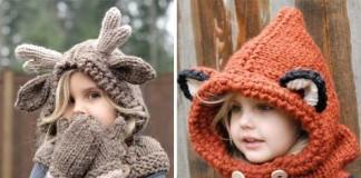 Pletené a háčkované kapucne pre deti spod šikovných rúk Heidi May