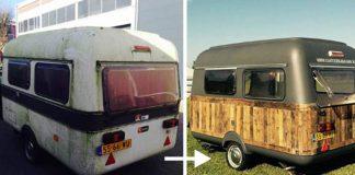 Pojazdná kancelária zo starého karavanu | To je nápad!