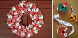 Dekoračný veniec zo stúh na Vianoce | DIY návod