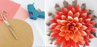 Dahlia z papiera | Kreatívny nápad a návod krok za krokom