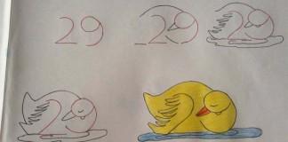 Kresby založené na číslach   Učíme deti tvary čísel a kreslenie