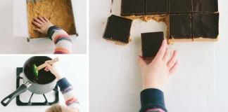 Nepečené čokoládovo-arašidové kocky | Recept
