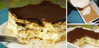 Recept na chutný nepečený dezert s vanilkovým krémom