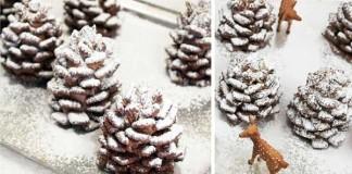 Zasnežené čokoládové šišky na zjedenie | Recept