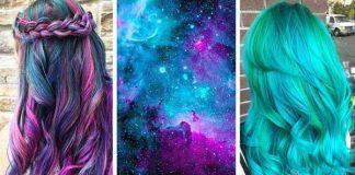 Nápady na účesy inšpirované farbami vzdialených galaxií