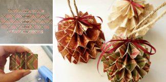 Vianočné gule z papiera | DIY návod na vianočné ozdoby