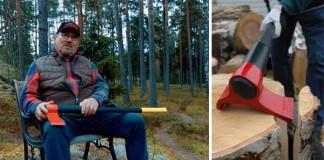 Leveraxe: páková sekera na štiepanie dreva | Heikki Kärnä