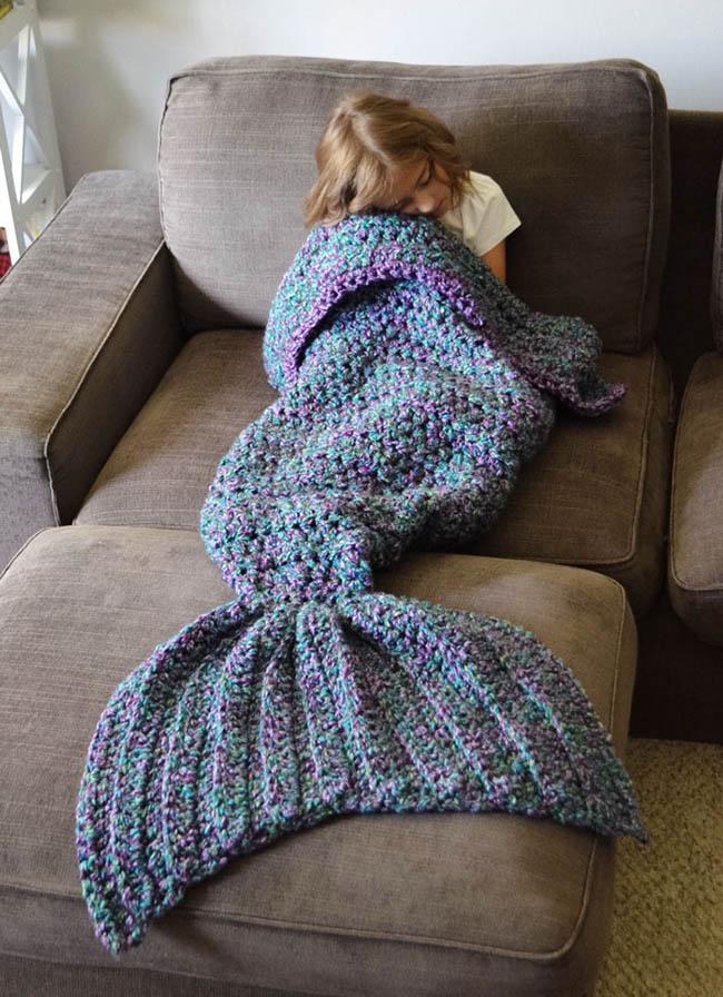 Melanie Campbell Kreatívne háčkované deky morské víly 3