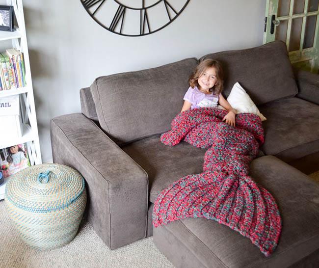 Melanie Campbell hackovane deky nie len pre deti v podobe morskej panny 4