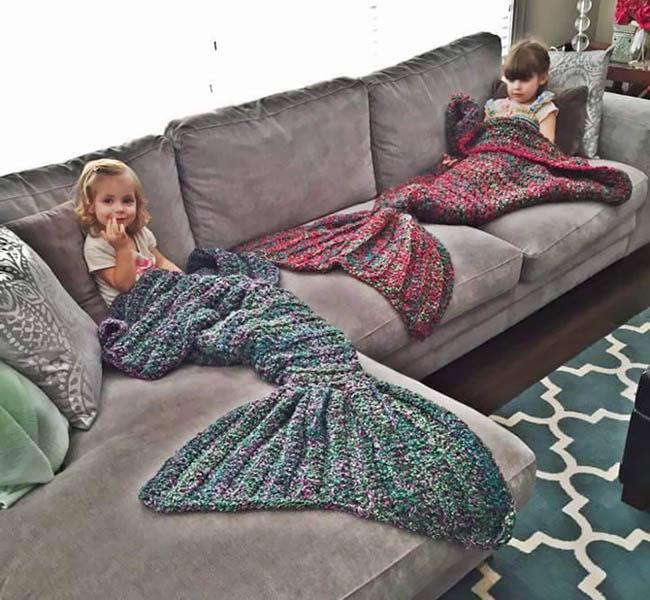 Melanie Campbell hackovane deky nie len pre deti v podobe morskej panny 5