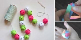 Girlanda z papierových guľôčok + návod na papierové guľôčky