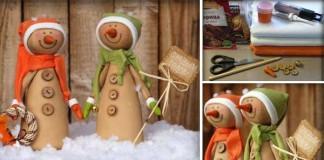 Ručne šití snehuliaci | Originálny handmade nápad s návodom