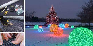 Vianočné vonkajšie osvetlenie v podobe svietiacich gulí | DIY návod