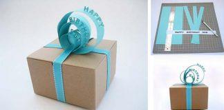 3D menovka na darček z papiera | Originálny nápad s návodom