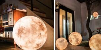 Návod na tienidlo, ktoré vyzerá ako mesiac