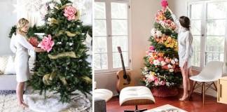 Vianočné stromčeky zdobené kvetmi | Nový trend Vianoc?