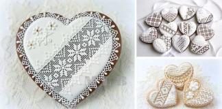 Zdobenie koláčikov čipkovanými vzormi