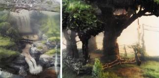 Arron Kuiper vytvára obdivuhodné 3D maľby vo vnútri nádob