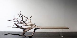 Lavička vytvorená zo spadnutého stromu | Benjamin Graindorge