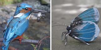 JK Brown mení kovový odpad na umenie. Vytvára z neho sochy zvierat