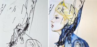 Ruth Oosterman mení čmáranice svojej dcéry na nádherné obrazy